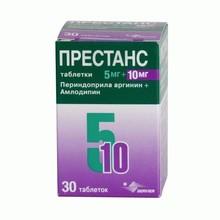 Престанс таблетки 5 мг+10 мг, 30 шт.