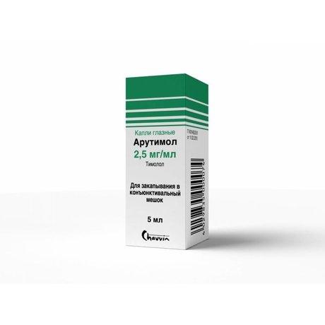 Арутимол глазные капли 0.25% , 5 мл