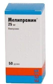 Мелипрамин таблетки 25 мг, 50 шт.