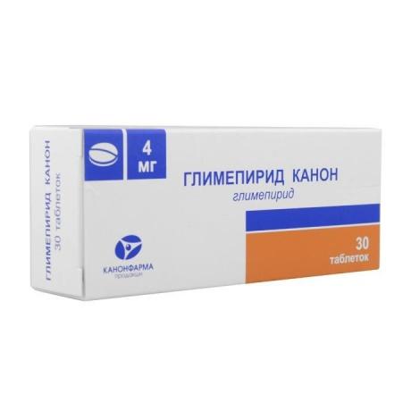Глимепирид Канон таблетки 4 мг, 30 шт.