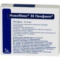 Протафан HM пенфилл картриджи 100МЕ/мл 3 мл, 5 шт.