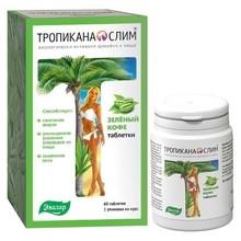 Тропикана Слим Зеленый Кофе таблетки, 60 шт.