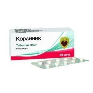 Кординик таблетки 10 мг, 60 шт.