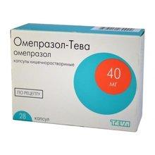 Омепразол-Тева капсулы 40 мг, 28 шт.