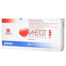 Бинелол таблетки 5 мг, 56 шт.
