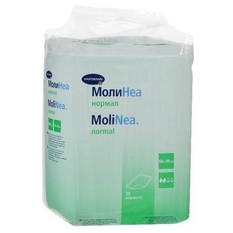 Пеленка MOLINEA Normal впитывающие  60см х 90см, 30 шт.