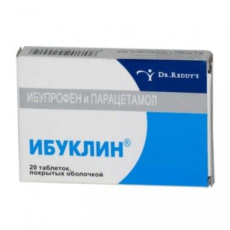 Ибуклин таблетки 400мг+325мг, 10 шт.