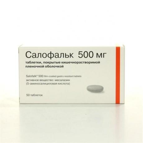 Салофальк таблетки 500 мг, 50 шт.