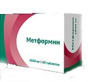 Метформин таблетки 1000 мг, 60 шт.
