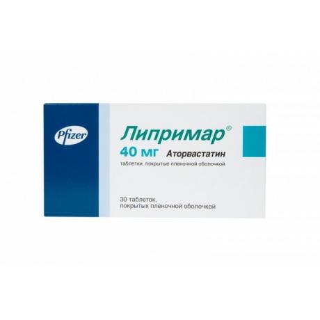 Липримар таблетки 40мг, 30шт