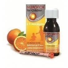Нурофен для детей суспензия 100 мг/5 мл, 150 мл, апельсин