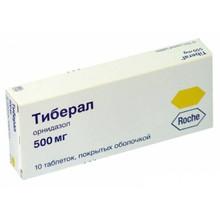 Тиберал таблетки 500 мг, 10 шт.
