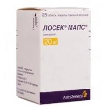 Лосек МАПС таблетки 20 мг, 28 шт.