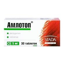 Амлотоп таблетки 5 мг, 30 шт.
