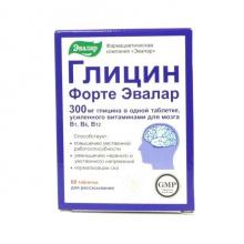 Глицин-форте Эвалар таблетки для рассасывания №60