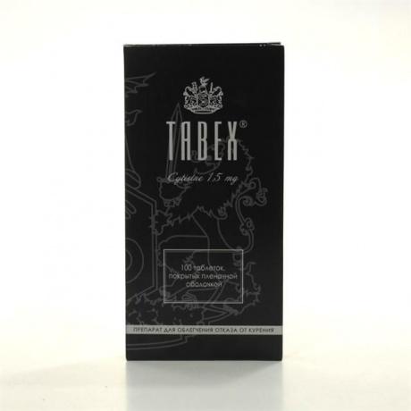 Табекс таблетки 1,5мг, 100 шт.