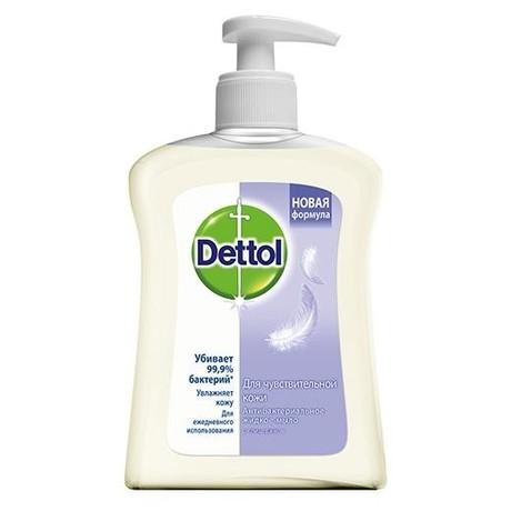 Деттол (Dettol) мыло для рук антибактериальное жидкое с глицерином для чувствительной кожи 250 мл (дозатор)