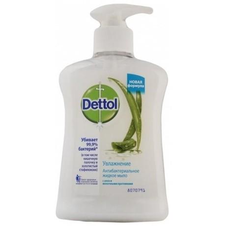 """Деттол (Dettol) мыло д/рук антибактериальное жидк. """"Наслаждение"""" с медом и абрикосом 250мл (дозатор)"""