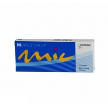 Микрогинон таблетки 150мкг + 30мкг, 21 шт.