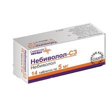 Небиволол таблетки 5 мг, 14 шт.