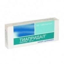 Тиапридал таблетки 100 мг, 20 шт.