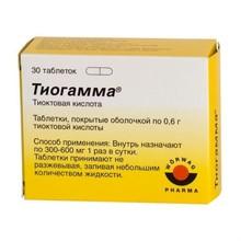 Тиогамма таблетки 600 мг, 30 шт.