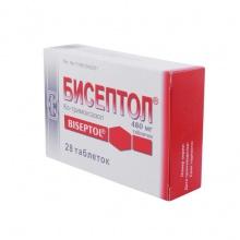 Бисептол таблетки 480 мг, 28 шт.