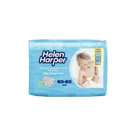 Пеленка HELEN HARPER впитывающие 60 х 60см, детские, 20 шт.
