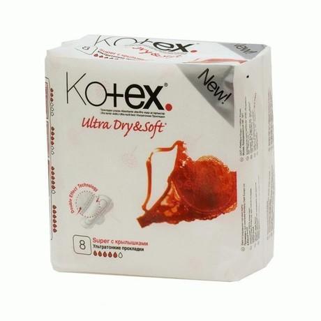 Прокладки гигиенические KOTEX Ultra Dry Soft Super, 8 шт.