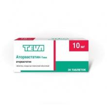 Аторвастатин-Тева таблетки 10 мг, 30 шт.
