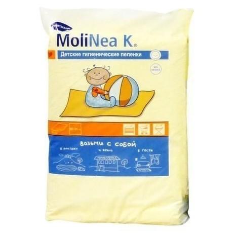 Пеленка MOLINEA K впитывающие одноразовые 40см х 60см 4 слоя, 10 шт.