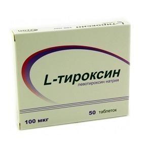 L-тироксин таблетки 100 мкг, 50 шт.