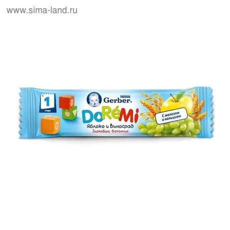 Батончик фруктовый ГЕРБЕР ДоРеМи злаки/яблоко/виноград,  25 г