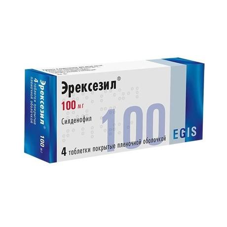 Эрексезил таблетки 100 мг, 4 шт.