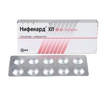 Нифекард ХЛ таблетки с модифицир. высвобождением 60 мг, 60 шт.