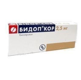 Бидоп Кор таблетки 2,5 мг, 28 шт.
