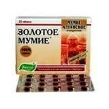 Мумие Золотое, мумие алтайское очищенное таблетки 200 мг, 60 шт.
