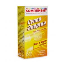 Компливит СуперЭнергия с женьшенем таблетки шипучие, 10 шт.