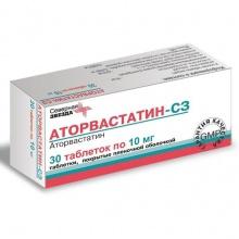 Аторвастатин-СЗ таблетки 10 мг, 30 шт.