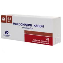 Моксонидин Канон таблетки 400 мкг, 28 шт.