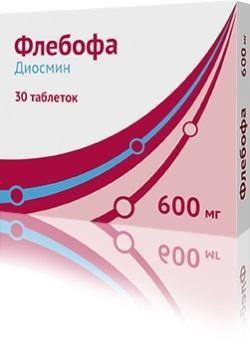 Флебофа таблетки 600 мг, 30 шт.