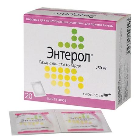 Энтерол порошок для суспензии для приема внутрь 250 мг пакетики, 20 шт.