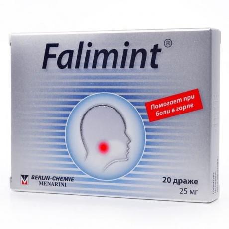 Фалиминт: инструкция по применению, цена, отзывы, аналоги таблеток.