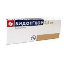 Бидоп Кор таблетки 2,5 мг, 56 шт.