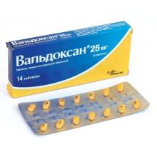 Вальдоксан таблетки покрытые плёночной оболочкой 25мг №14