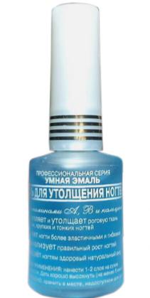 Гель УМНАЯ ЭМАЛЬ для утолщения ногтей с витаминами A, B5, Ca, 11 мл