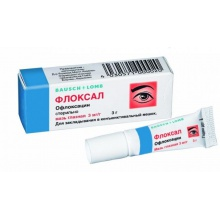 Флоксал мазь глазные 0,3%, 3 г