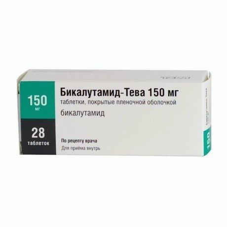 Бикалутамид-Тева таблетки 150 мг, 28 шт.