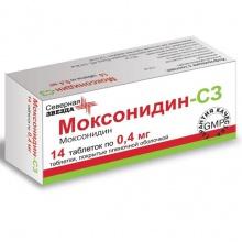 Моксонидин-СЗ таблетки 400мкг, 14шт
