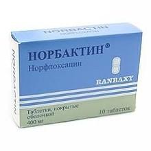 Норбактин таблетки 400 мг, 20 шт.